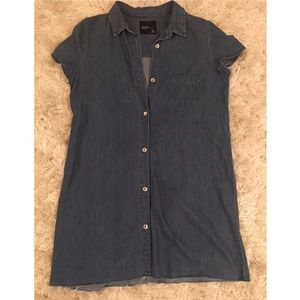 Zara frayed denim dress size large
